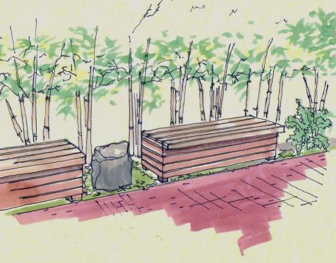 Garden Bench Sketch
