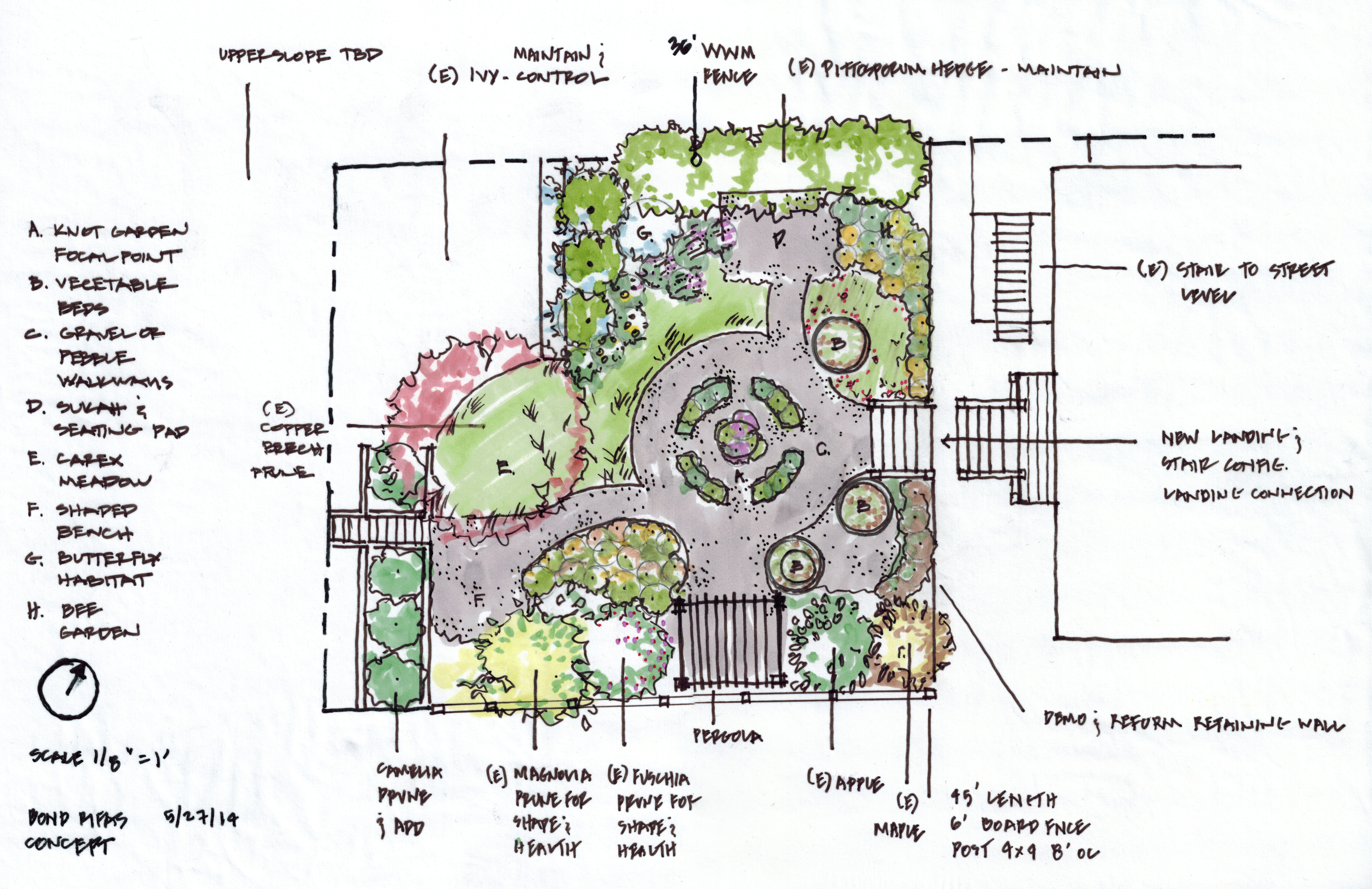Berkeley cottage garden concept plan ian moore design for Garden design plans